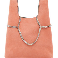Suede Mini Shopper On A Chain | Moda Operandi