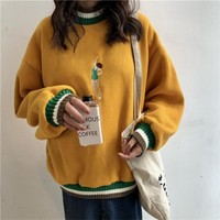 Embroidered Swimmer Sweater