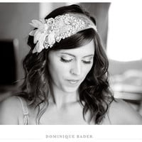 Art Deco Bridal Bandeau Made to Order As seen in by DolorisPetunia