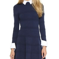 Textured Collared Dress