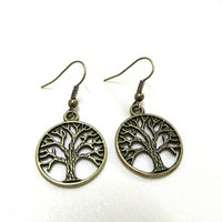 Bronze Tree of Life Earrings, Tree Earrings, Bronze Earrings, Gift,  Tree of Life Jewellery, Nature Earrings, Boho, Hippie