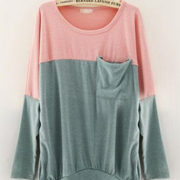Loose Bat Sleeve Women Sweater Green$38.00