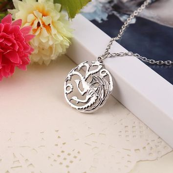 "Blueness Song Of Ice Fire ""Game of Thrones"" Targaryen Necklace - FREE"
