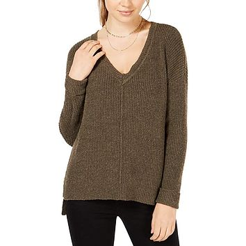 Hippie Rose Juniors Mossy Ribbed-Knit Tunic Top