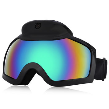 New Arrival Brand Skiing Goggles Mask With 1080P HD Camera Camcorder Anti-fog Men Women Snowboarding Glasses With Action Camera