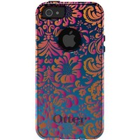 CUSTOM OtterBox Commuter Series Case for Apple iPhone 5 / 5S - Pink Orange Blue Flower Floral