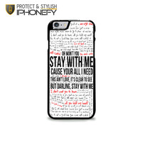 Sam Smith Stay With Me Lyric iPhone 6 Plus Case|iPhonefy