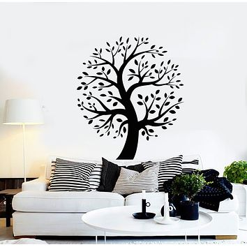 Vinyl Wall Decal Tree Leaves Branch Nature Home Room Decor Stickers Mural (g935)