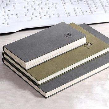 RuiZe vintage matte leather notebook A5 B5 A6 handmade creative hardcover journal note book creative stationery office supplies