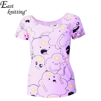 X-179 Adventure Time Print Women T-shirt Harajuku Punk Summer T-shirts Casual Clothes Set