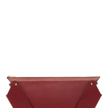 Fleet Ilya Merlot Saddler Leather Winged Box Clutch