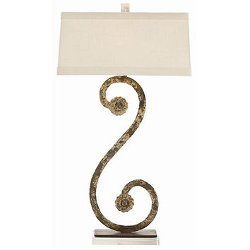Arteriors Home Climping Painted Forged Iron/Acrylic Table Lamp - Arteriors Home DR12017-660