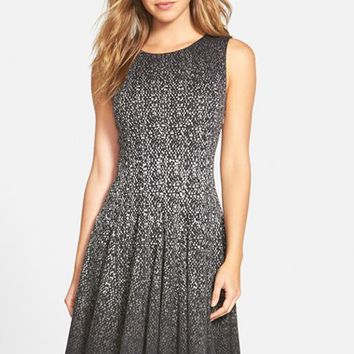 Women's Eliza J Print Ombre Sleeveless Fit & Flare Dress,
