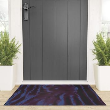 faux tie-dye Welcome Mat by duckyb