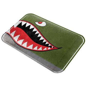 PEAPGQ9 Halloween WWII Flying Tiger Fighter Shark Nose Art Glass Cutting Board