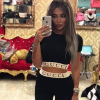 Gucci Women Top Tight pants Two-Piece
