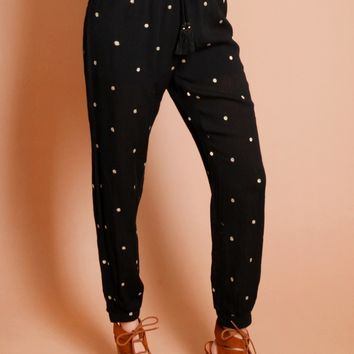 Destination Gold Embroidered Pants | Threadsence