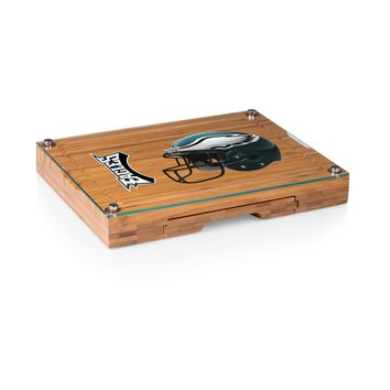 Philadelphia Eagles - Concerto Glass Top Cheese Board & Tools Set