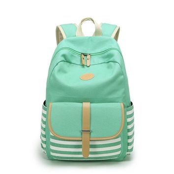 Women Backpacks For Teenage Teen Girls Canvas Backpack Female Striped Feminine Backpack School Bagpack Girl Mochila Feminina Bag
