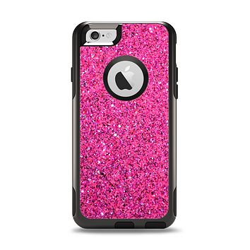 The Pink Sparkly Glitter Ultra Metallic Apple iPhone 6 Otterbox Commuter Case Skin Set