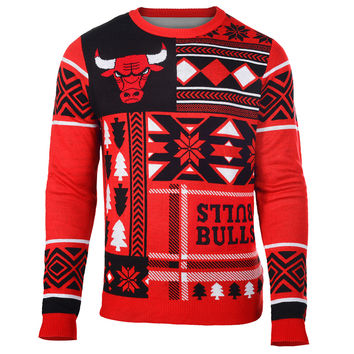 Chicago Bulls Patches NBA Ugly Crew Neck Sweater