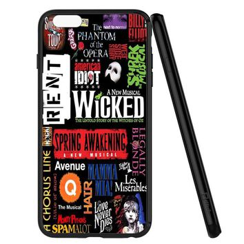 Broadway Musical Collage iPhone 6 | 6S Case Planetscase.com