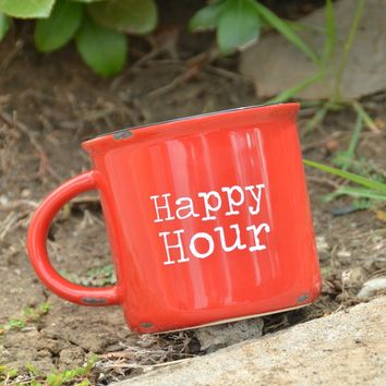 Natural Life Camp Mug - Happy Hour