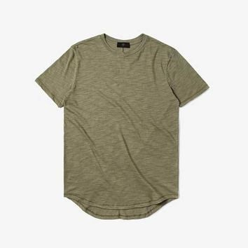 US size Mens Hiphop Tees  Summer Sweat Extended Tee Destroy Oversized T Shirt Scratch Tyga Kanye West Shirts Men Clothing Style