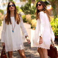 Utopia White Lace Shift Dress