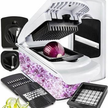 Vegetable Chopper Mandoline Slicer Dicer - Onion Chopper - Vegetable Dicer Food Chopper Dicer Pro - Food Choppers and Dicers - Spiralizer Vegetable Cutter - Veggie Chopper Spiralizer Vegetable Slicer