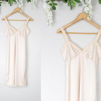 Vintage Nude Slip Dress