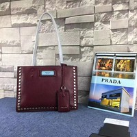 Women's shoulder diagonal handbags the latest burst Prada Etiquette 1BD121 portable shopping bag