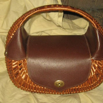 retro  vintage wicker handbag