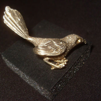 Sterling Silver Bird Pin Brooch Signed A.C.