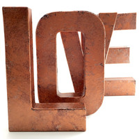 Faux Metal Letters - Copper - Hammered Copper - Antique - Vintage - Industrial - Decorative - Copper - Rustic - Beautiful