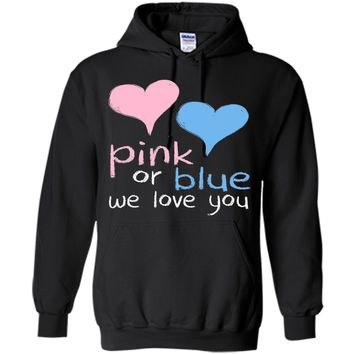 Pink Or Blue We Love You Baby Shower Gender Reveal Cute t-shirt