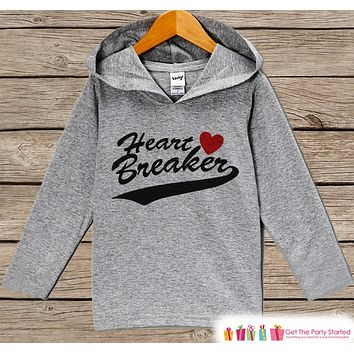 Boys Valentines Day Outfit - Kids Hoodie - Heart Breaker Valentine Pullover - Funny Boys Valentine's Day Outfit - Kids, Baby, Toddler Hoodie