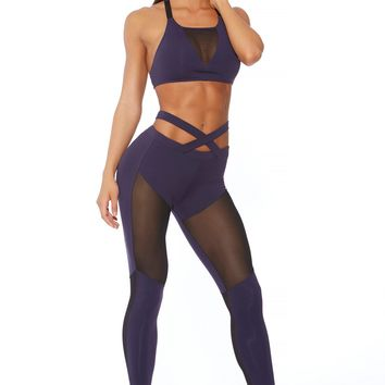 Exotic Leggings - Navy