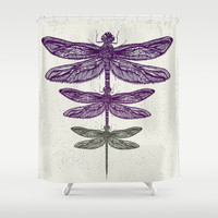 Dragonfly  Shower Curtain by rskinner1122