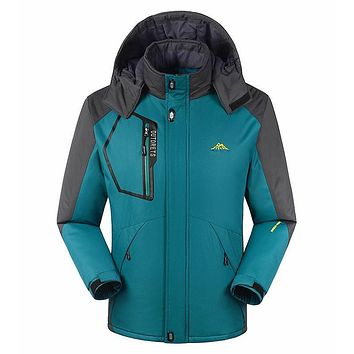 Warm Fit -35 Temperature Plus Size L-6XL 7XL 8XL Brand Padded Coat For men Winter Jacket With Hooded Waterproof Windproof