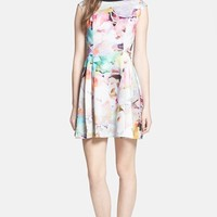 Ted Baker London 'Electric Day' Stretch Skater Dress