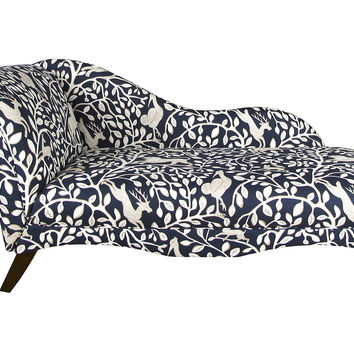 Ariel Chaise Lounge, Navy/Ivory, Chaise Longues