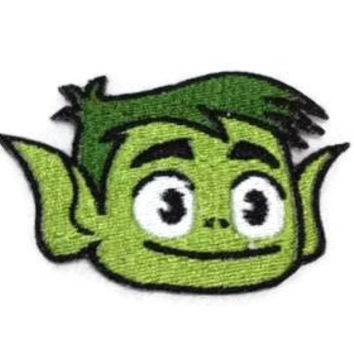 Iron on Teen Titans Beast Boy embroidered patch