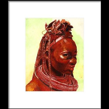 African Beauty - Framed Print 59