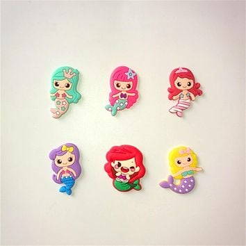 20pcs/lot Cute mermaid cartoon flatback DIY hair bow accessories shower decoration Center Crafts