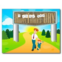 Happy Father's Day Postcards