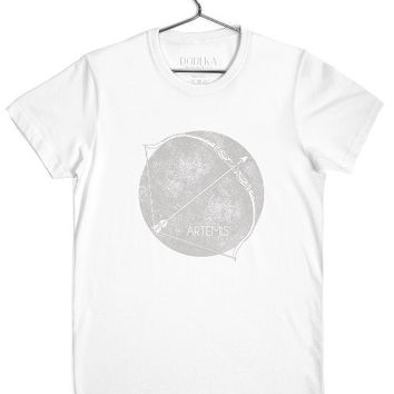 Symbol of Artemis Goddess of Hunting t-shirt for men by Dodeka MC