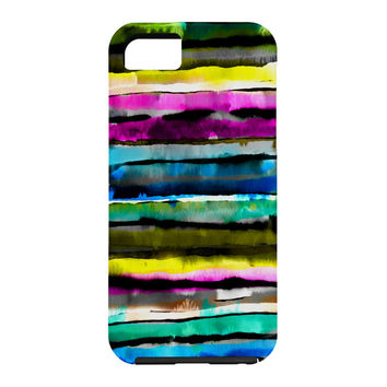 CayenaBlanca Watercolour Stripes Cell Phone Case