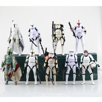 Star Wars Force Episode 1 2 3 4 5 Disney  Stormtrooper 9 styles 15cm Action Figure Posture Model Anime Decoration Collection Figurine Toys model children AT_72_6