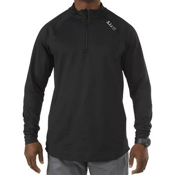 5.11 Sub-Z Quarter Zip Long Sleeve Shirt, Black, M